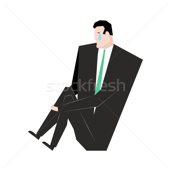 Sad businessman. sorrowful boss. Crying guy. Sadness manager Stock photo © MaryValery