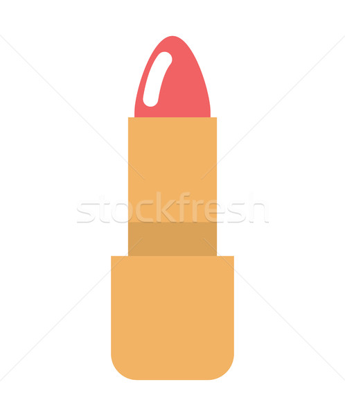 Red Lipstick isolated. make-up women accessory. Cosmetics on whi Stock photo © MaryValery