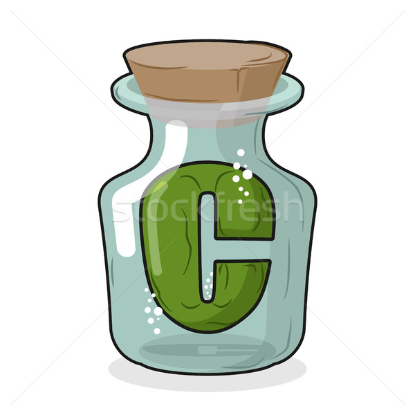 Naukowy laboratorium butelki list magic Zdjęcia stock © MaryValery