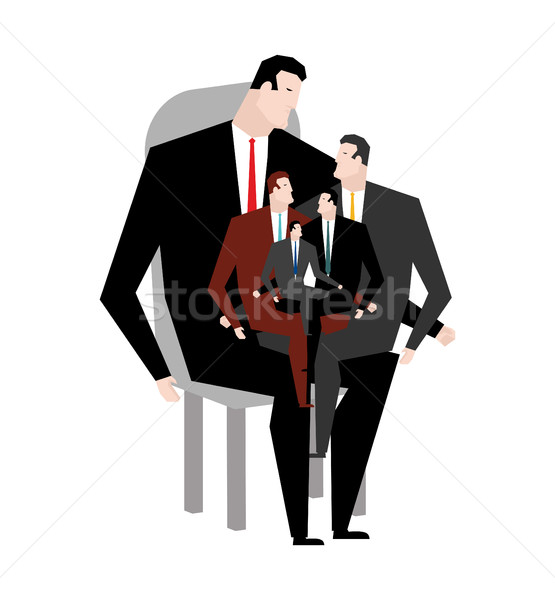 Office relatives. Corporate kinsfolk. Business family. generatio Stock photo © MaryValery