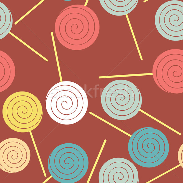 Lollipops seamless pattern. Multicoloured sweets vector backgrou Stock photo © MaryValery