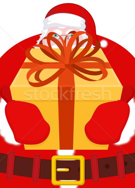 サンタクロース ギフト クリスマス ボックス 弓 ストックフォト © MaryValery
