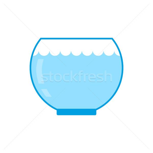 Aquarium vide isolé verre eau poissons Photo stock © MaryValery