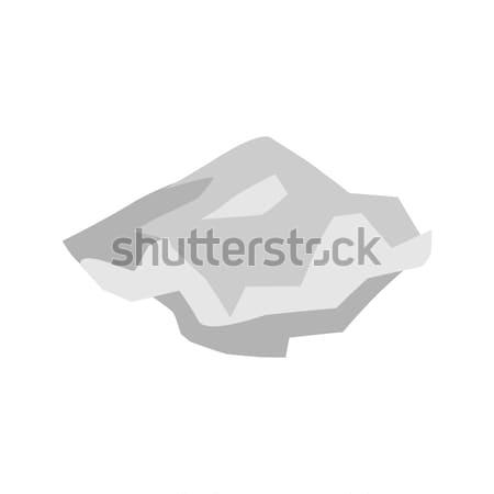Papír szemét izolált lap hulladék fehér Stock fotó © MaryValery