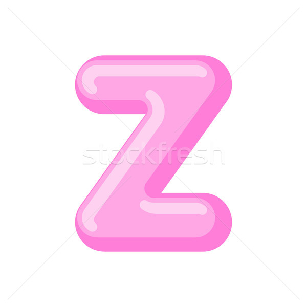 Letter Z candy font. Caramel alphabet. lollipop lettering. Sweet Stock photo © MaryValery