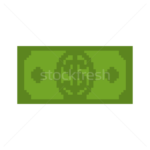 Money pixel art. Cash is pixel. Dollar 8 bits Stock photo © MaryValery