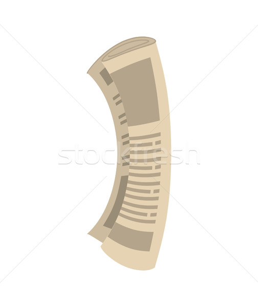 Roll of newspapers isolated. Rolled of publications on white bac Stock photo © MaryValery