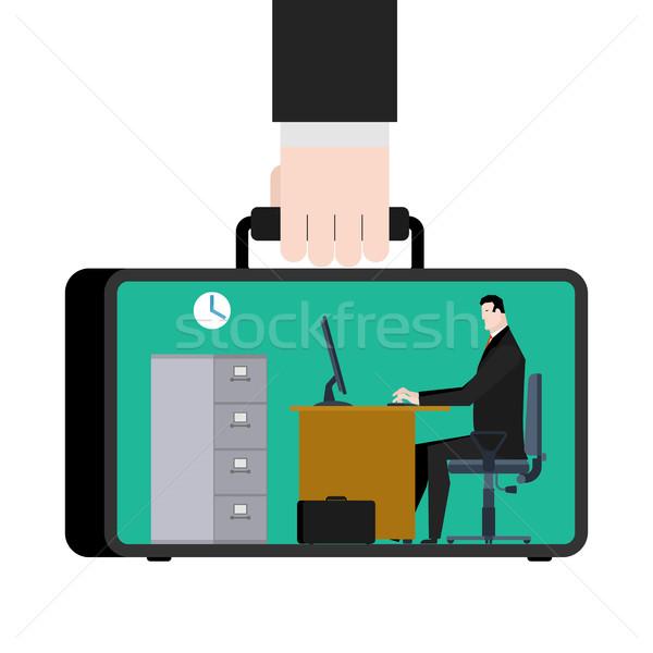 オフィス 場合 携帯 職場 スーツケース マネージャ ストックフォト © MaryValery