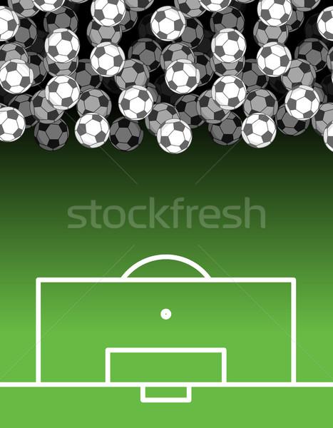 Futballpálya labda golyók futball sportok kellékek Stock fotó © MaryValery
