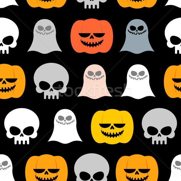 Seamless pattern for Halloween. Background of the symbols of the Stock photo © MaryValery