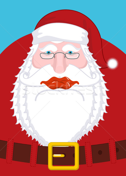 Noel baba portre Noel dede beyaz sakal Stok fotoğraf © MaryValery