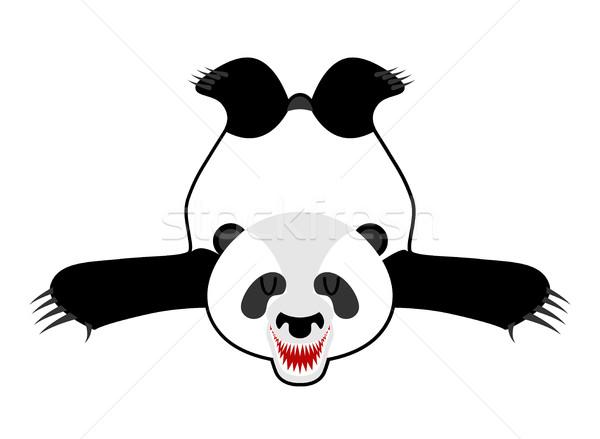 Panda chinese beer huid jager trofee Stockfoto © MaryValery