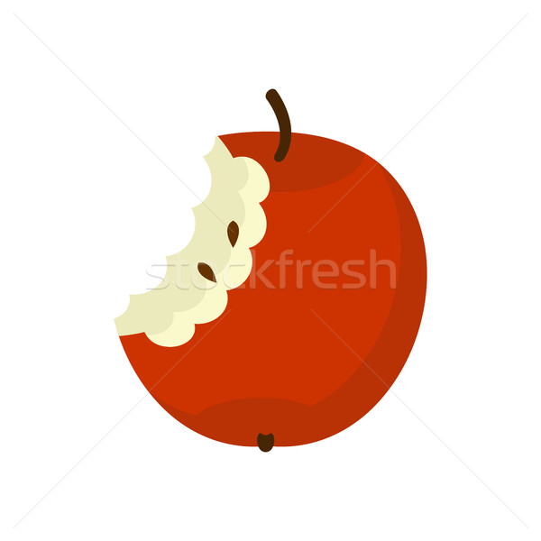 Apple core isolated. Fruit trash. Rubbish on white background. g Stock photo © MaryValery