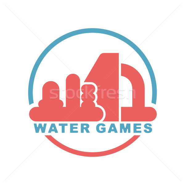 Water Games logo. Emblem for Inflatable park attraction Stock photo © MaryValery