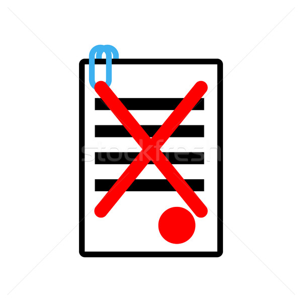 Documents reject icon sign. Office symbol. contract sheet with r Stock photo © MaryValery