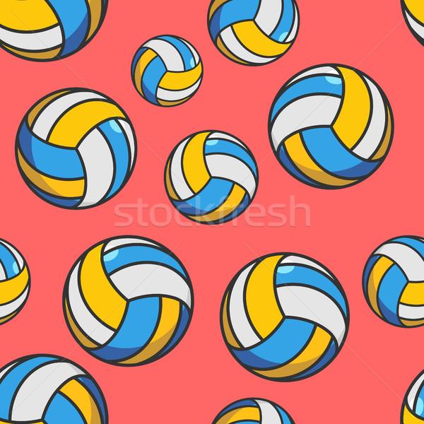 Stock fotó: Röplabda · végtelen · minta · sportok · dísz · textúra · sportcsapat