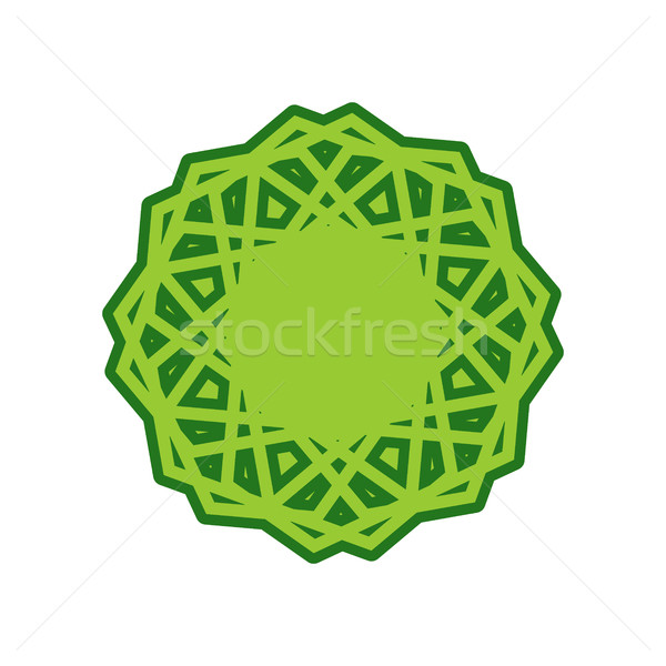 Halal template for Islamic pattern. Logo for properly cooked foo Stock photo © MaryValery