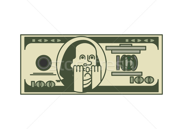 Dollar OMG portrait  Franklin. USA money. American currency. Oh  Stock photo © MaryValery