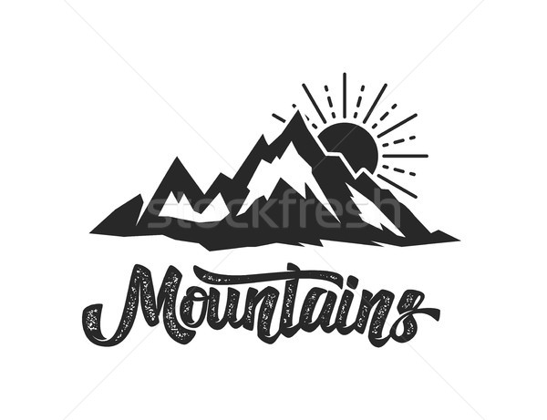 Dağ kamp amblem şablon logo Stok fotoğraf © masay256