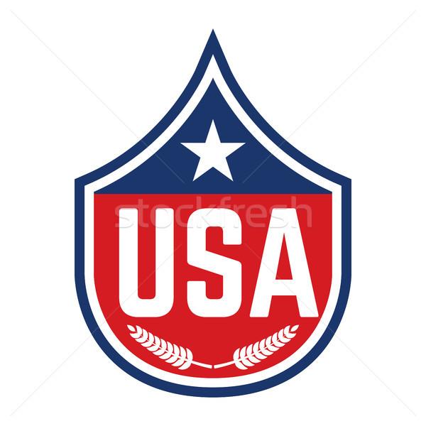Embléma USA szimbólum dizájn elem poszter rövidujjú póló Stock fotó © masay256