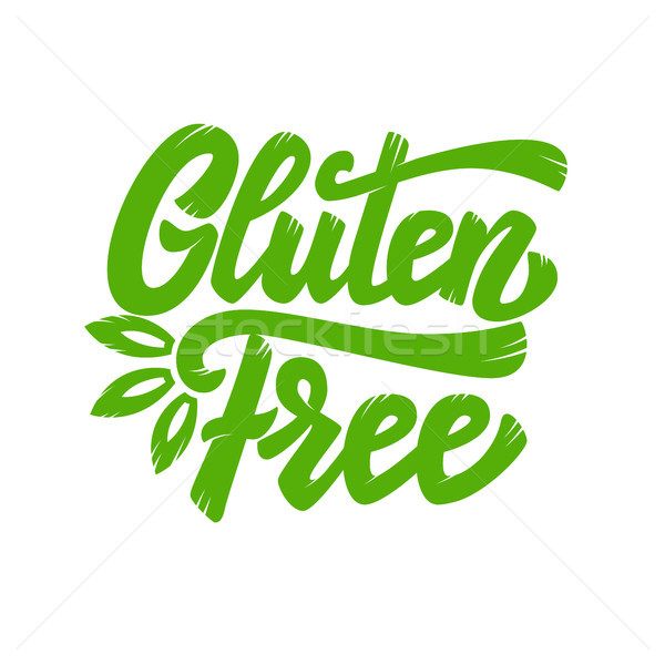 Gluten free. Lettering phrase isolated on white background. Design element for poster, emblem, banne Stock photo © masay256