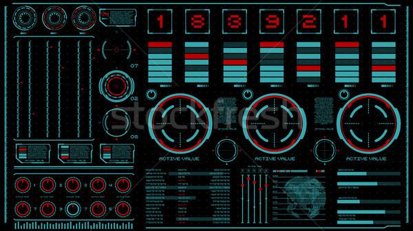 Schnittstelle dunkel Design Elemente Benutzer Animation Stock foto © masay256