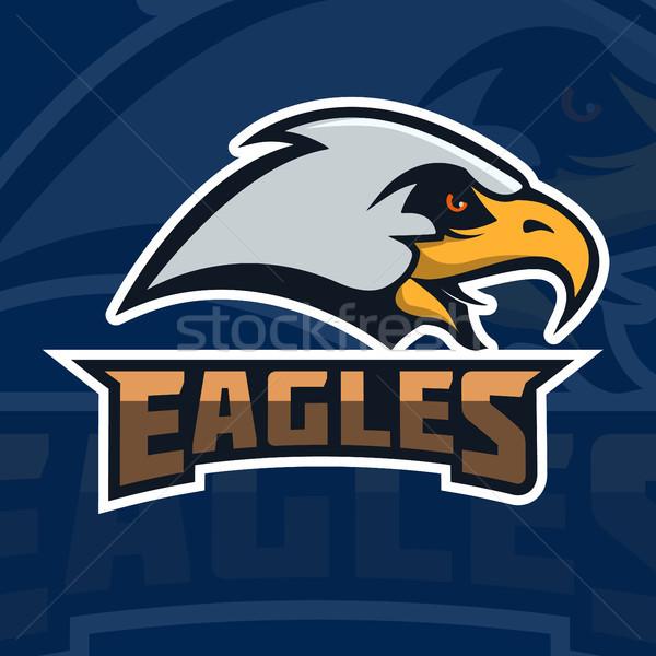 Eagles amblem şablon kartal kafa spor Stok fotoğraf © masay256