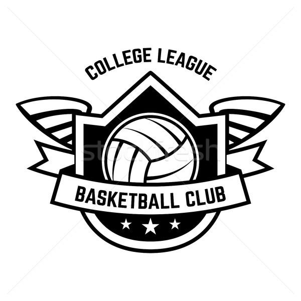 Emblema plantilla voleibol pelota aislado blanco Foto stock © masay256