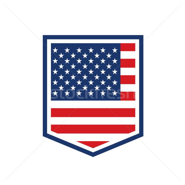 Amblem ABD simge poster Stok fotoğraf © masay256