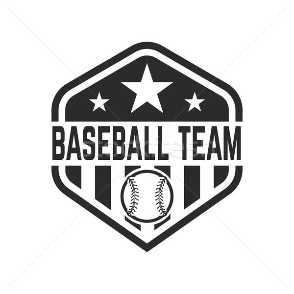Embleem baseball bal logo label Stockfoto © masay256