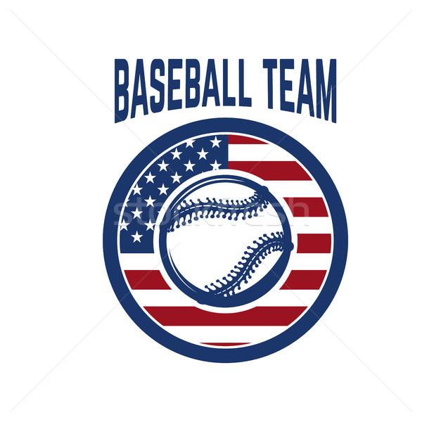 Amblem beysbol top logo etiket Stok fotoğraf © masay256