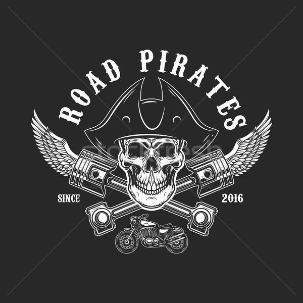 Strada pirati umani cranio pirata Hat Foto d'archivio © masay256