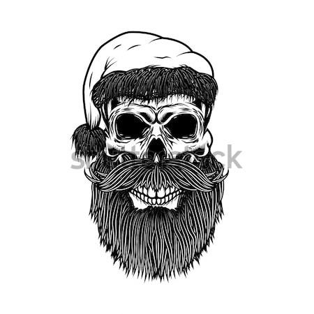 Ayarlamak kafatasları şapka dizayn elemanları Stok fotoğraf © masay256