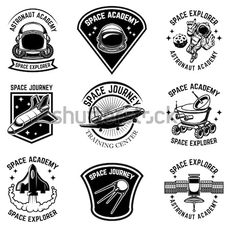 fishing camp emblem template on white  background. Pike perch fi Stock photo © masay256