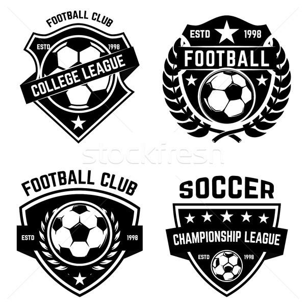 Establecer fútbol fútbol logo etiqueta Foto stock © masay256