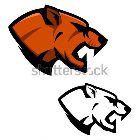Ingesteld tijger sport team mascotte Stockfoto © masay256