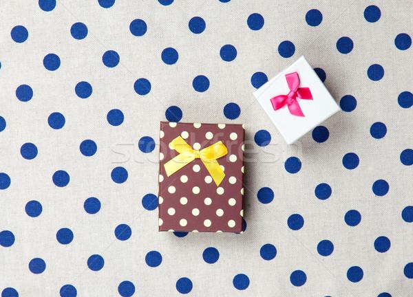 Foto cute regali meraviglioso bianco punteggiata Foto d'archivio © Massonforstock