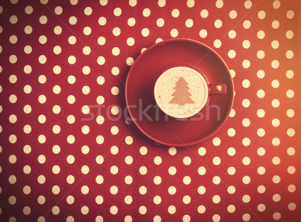 cup of coffee on speckled background. Stock photo © Massonforstock