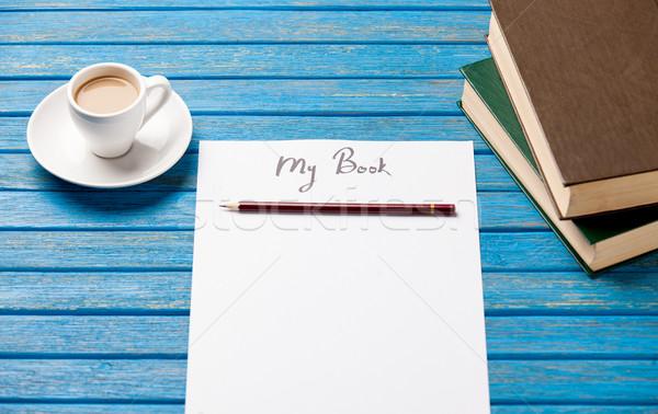 Foto papel meu livro livros Foto stock © Massonforstock