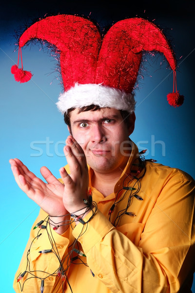 Boy with garland at hands  Stock photo © Massonforstock
