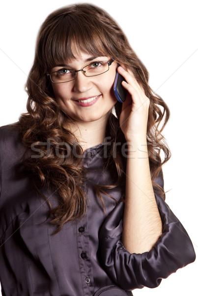 Business vrouwen roepen telefoon kantoor Stockfoto © Massonforstock