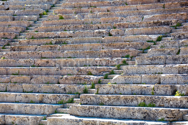 photo of old damaged stairs of ruined temple in Greece close up Stock photo © Massonforstock