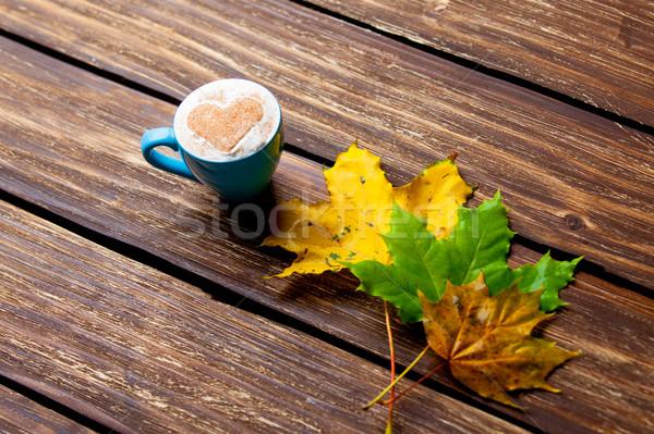 Foto copo café maravilhoso marrom Foto stock © Massonforstock