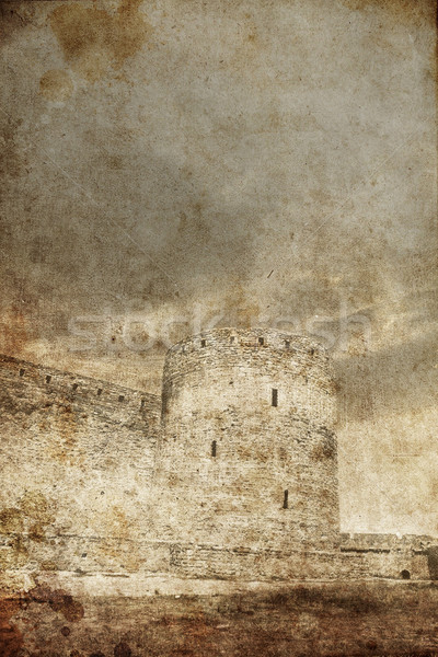 castle in vintage style  Stock photo © Massonforstock