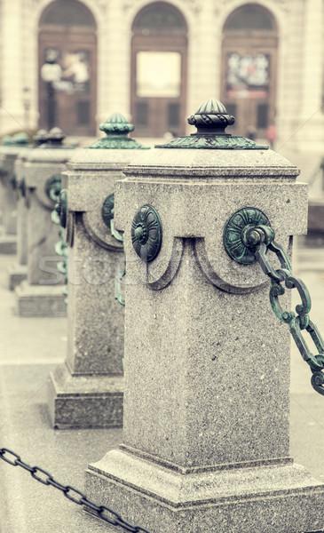 Marble poles in Vienna, Austria Stock photo © Massonforstock