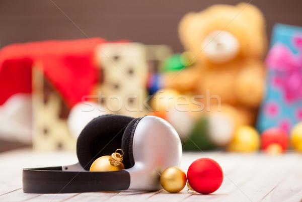 Headphones and baubles  Stock photo © Massonforstock