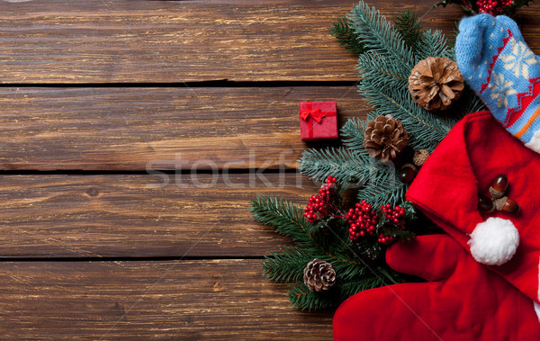 Gift box and Christmas things Stock photo © Massonforstock