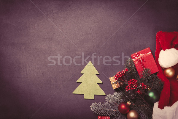 Christmas tree toy and gifts Stock photo © Massonforstock