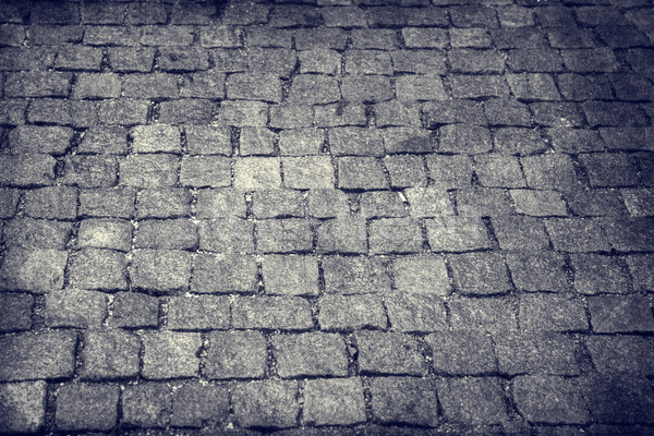 Stock photo: Seamless cobblestone path that works great for a a wall or stone