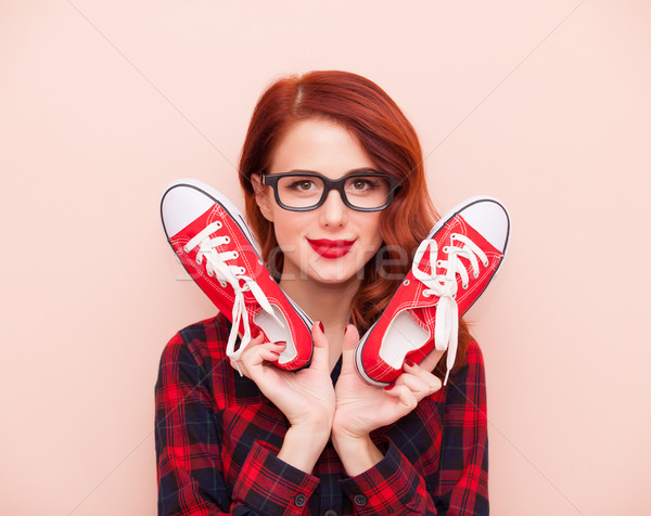 Girl with gumshoes Stock photo © Massonforstock